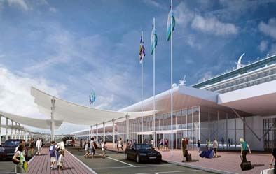 An artist impression of how the new terminal will look