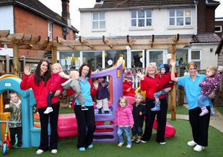 Paint Pots Nursery in Howard Road, Shirley celebrate an outstanding Ofsted report.  	Echo picture by Paul Collins. Order no: 11744924