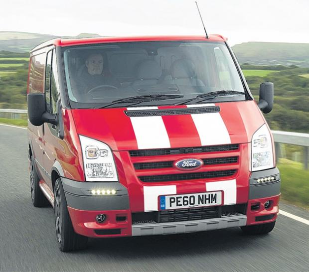 A Ford Sport Transit, as built in Southampton