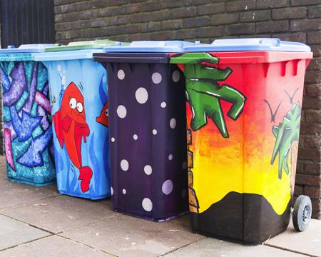 Southampton council scheme could transform drab wheelie for Spray paint plastic trash can