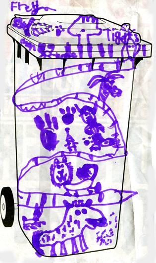Design Your Own Bin Competition - Freya Anderson, aged 6