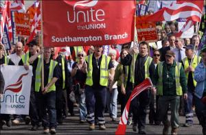 Council workers march on Southampton's civic offices