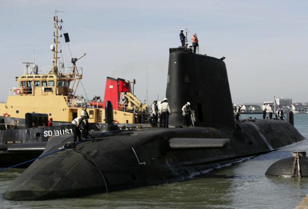 HMS Astute in Southampton at the time of the killing