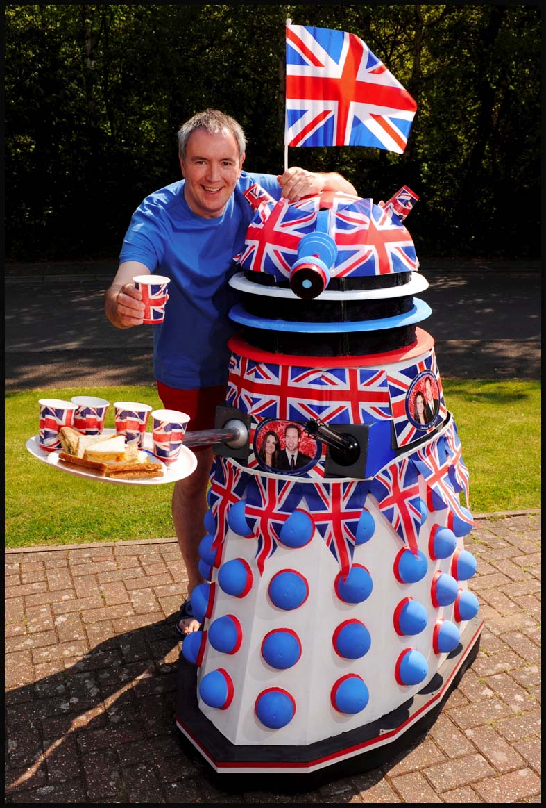 Chris Balcombe and his patriotic dalek