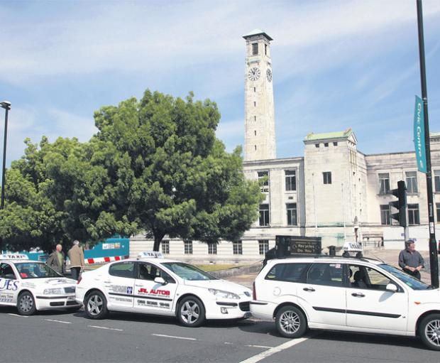 Hunt for taxi driver attacker