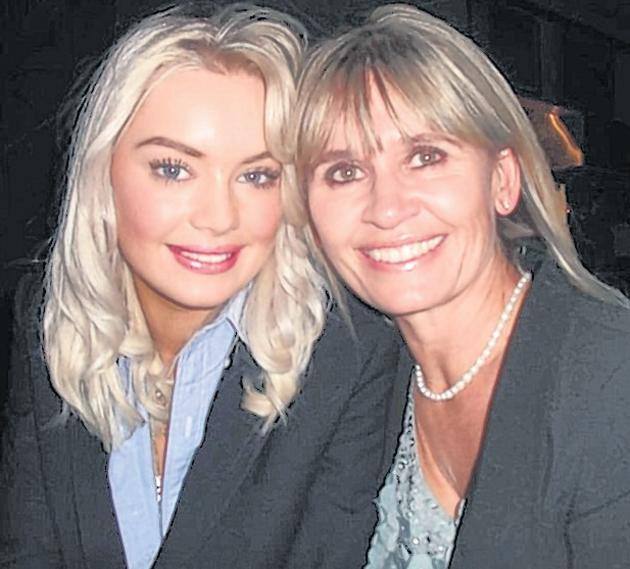 Emily Longley pictured with her mum Caroline