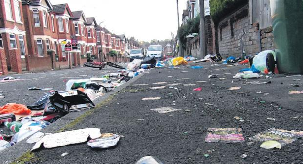 Newcombe Road following last year's street party