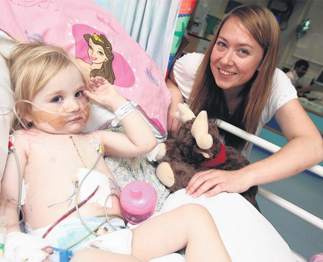 Helen Laverty's two-year-old daughter Nancy underwent a third round of lifesaving heart surgery last week – but she says if the cardiac unit Nancy's life could be at risk.