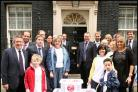 Campaigners and MPs outside Number 10 with the 232,733-signature Have a Heart petition ready to deliver to the Prime Minister.