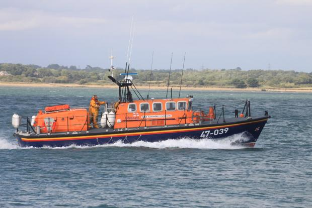 Library image of a lifeboat in action