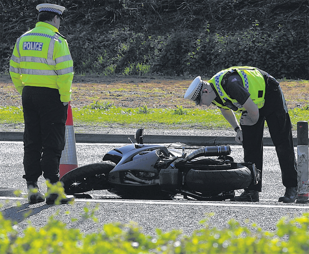 Emergency services attend the scene of the accident in which Timothy Rowsell died