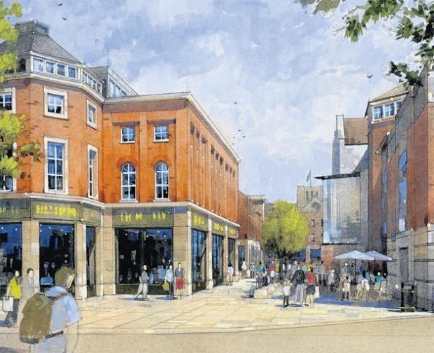 An artist's impression of how part of Silver Hill could look