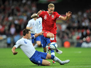 Action frm England v Wales