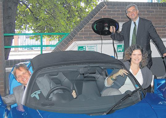Chris Huhne, Cllr Louise Bloom and Kevin Sharpe from Zero Carbon World.