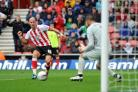 Richard Chaplow scores Saints' fourth goal