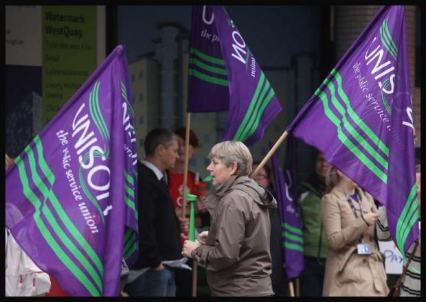 Council staff on strike