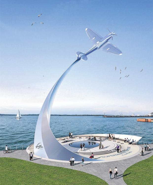£2m Spitfire monument is on launch pad