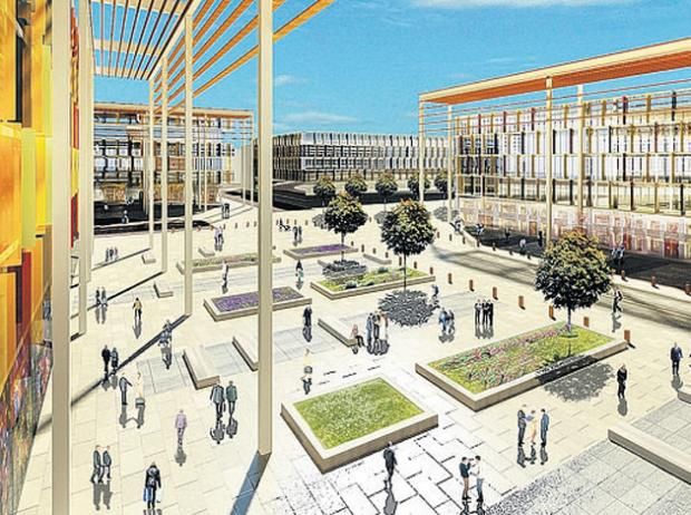 An artist's vision of the proposed Station Quarter in Southampton