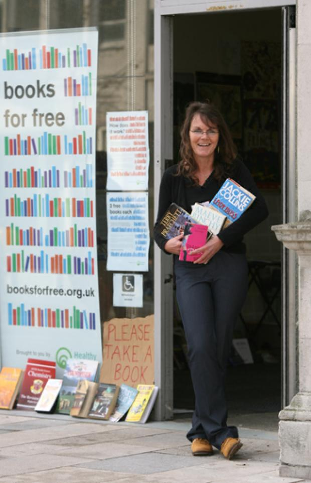 A 'shop' giving away free books has come to Southampton