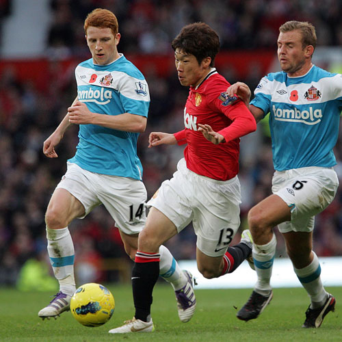 Park Ji-Sung, centre, was one of the victims
