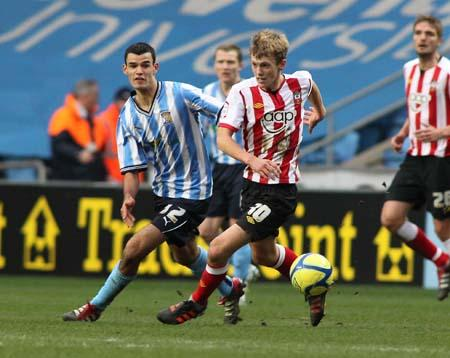 Coventry v Saint at the Ricoh Arena in the third round of the FA Cup. The unauthorised copying, downloading, editing or distribution of this image is strictly prohibited.