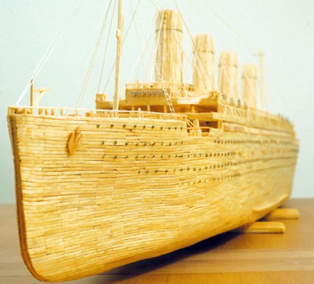 Dave Reynolds' matchstick model of Titanic