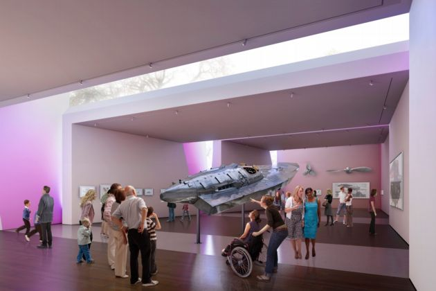 An artist's impression of the Sea City museum interior.