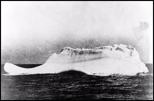 Daily Echo: Photograph of an iceberg taken from Minia, following the sinking of the Titanic in 1912.