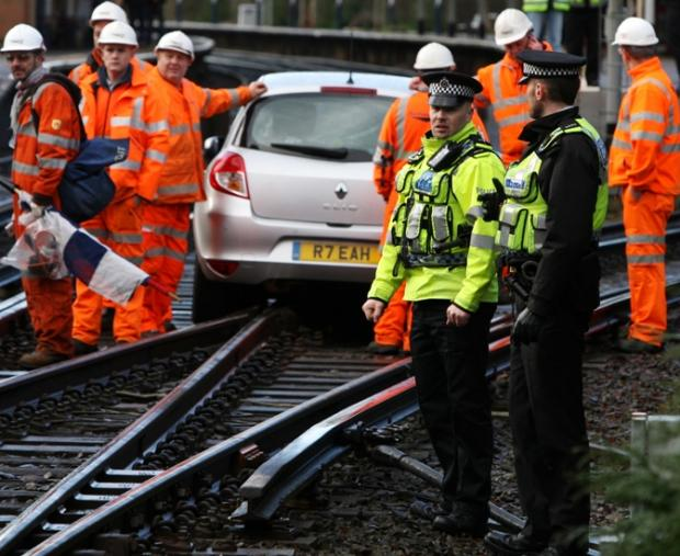 Gran who drove along rail track gives up licence