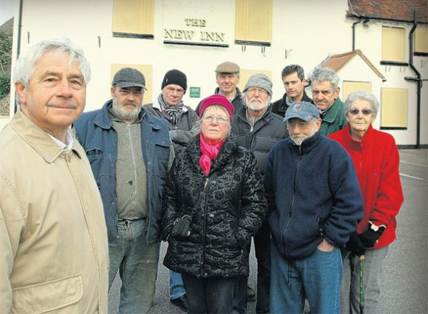 Ray Freshwater and other campaigners who are hoping to save the New Inn in Swanmore