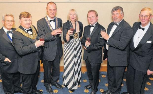Dignitaries and officials from both charities. Picture courtesy of the Portsmouth News.