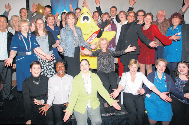 Hospital Heroes award-winners and runners-up with Esther Rantzen at the Novotel, Southampton, for last night's ceremony