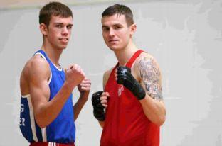 Golden Ring ABC fighters Jimmy Cooper, left, and Tommy Watson