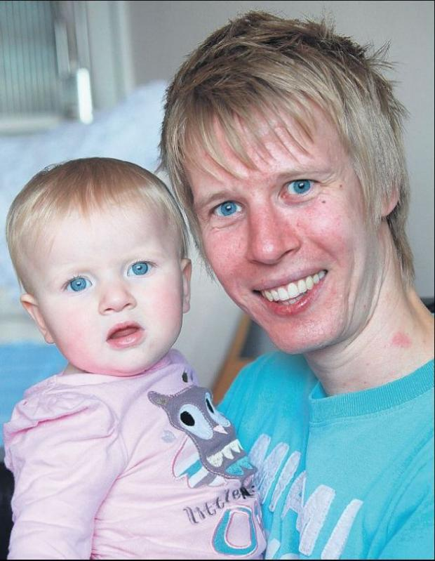 Chris Galton with daughter Imogen
