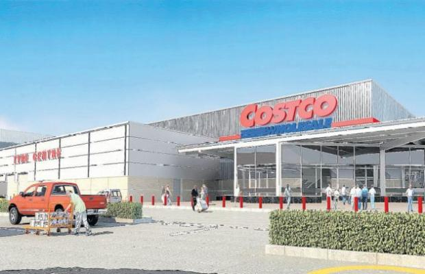Artist's impression of the Costco store