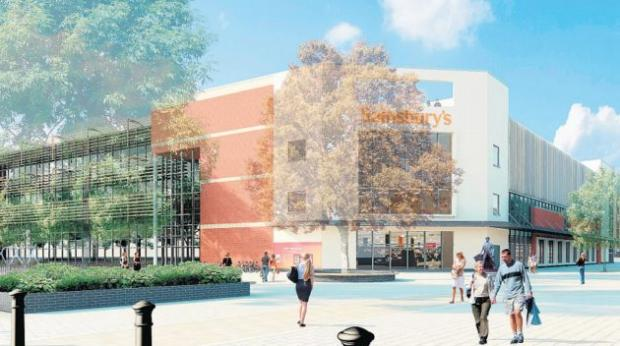 An artist's impression of the proposed new Sainsbury's.