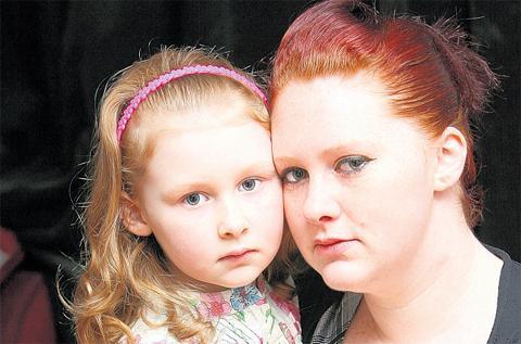 Leah Johnston and mum Kerry Webb