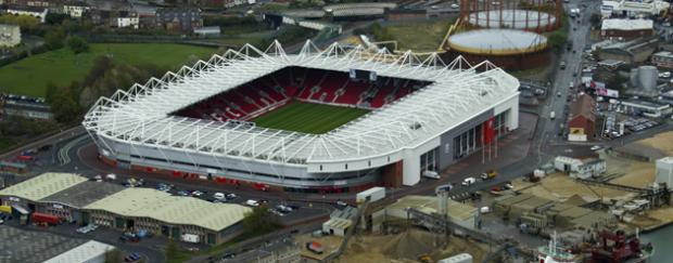St. Mary's Stadium in Southampton