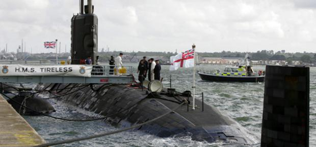 HMS Tireless on a previous visit to Southampton