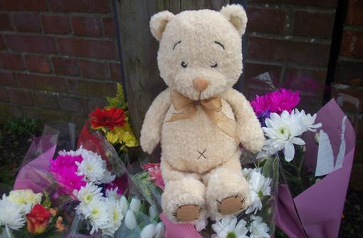 "Family of ""beautiful little girl"" killed in road crash take tributes to the scene."