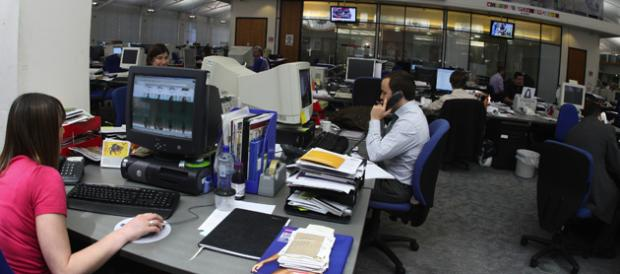 The newsroom at the Southern Daily Echo offices in Southampton.