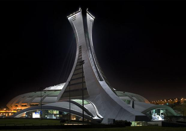Montreal's Olympic Stadium. Photograph by Alain Carpentier