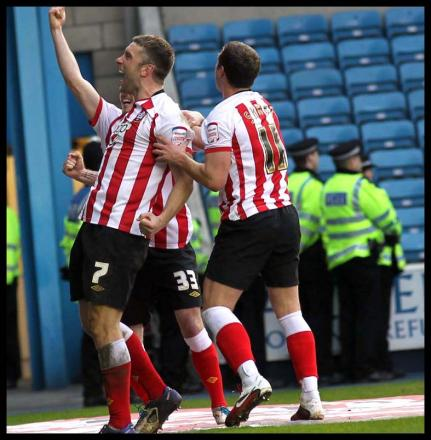 Rickie Lambert celebrates scoring against Millwall