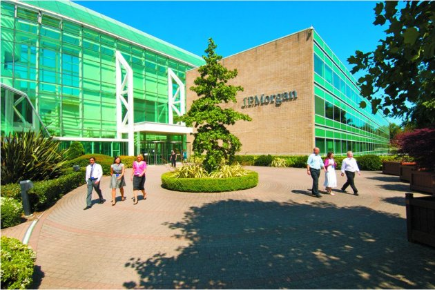 Daily Echo: J.P. Morgan - Bournemouth site Plaza entrance