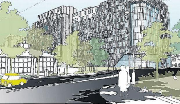 An artist's impression of the Mayflower Plaza development.