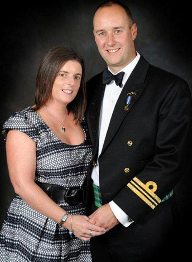Lieutenant Commander Ian Molyneux pictured with his wife Gillian