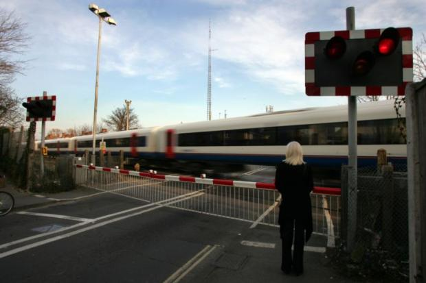 The contentious level crossing in Totton.