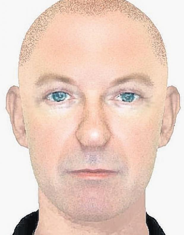 An efit of the suspect hunted by police