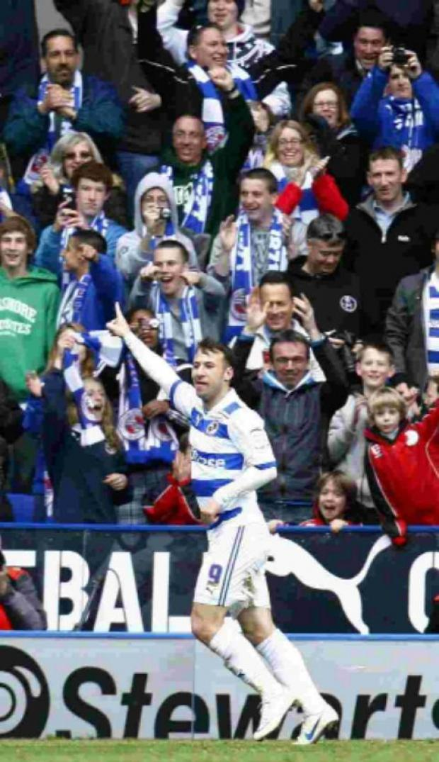 Adam Le Fondre scores for Reading yesterday
