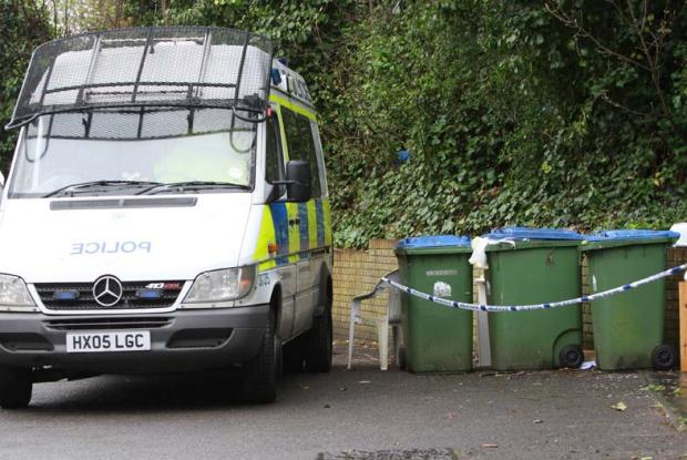 Police cordon off wheelie bins at Bevois Mews